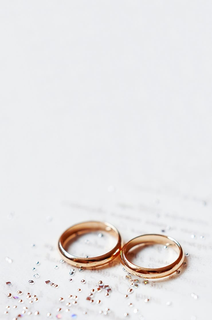 Rings on a table