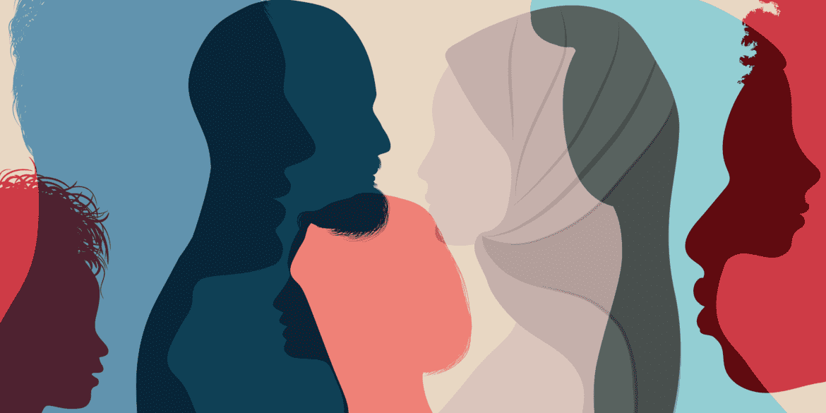 People from different faiths, races, and cultures coming together